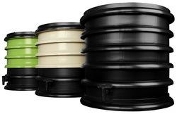 wormenbak, compostbak in groen, rood, beige en zwart