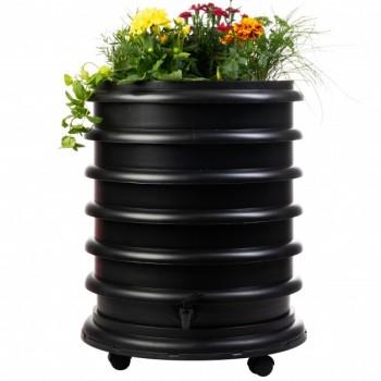 Zwarte wormenbak medium met plantenring