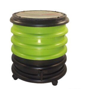 Groene kleine wormenbak