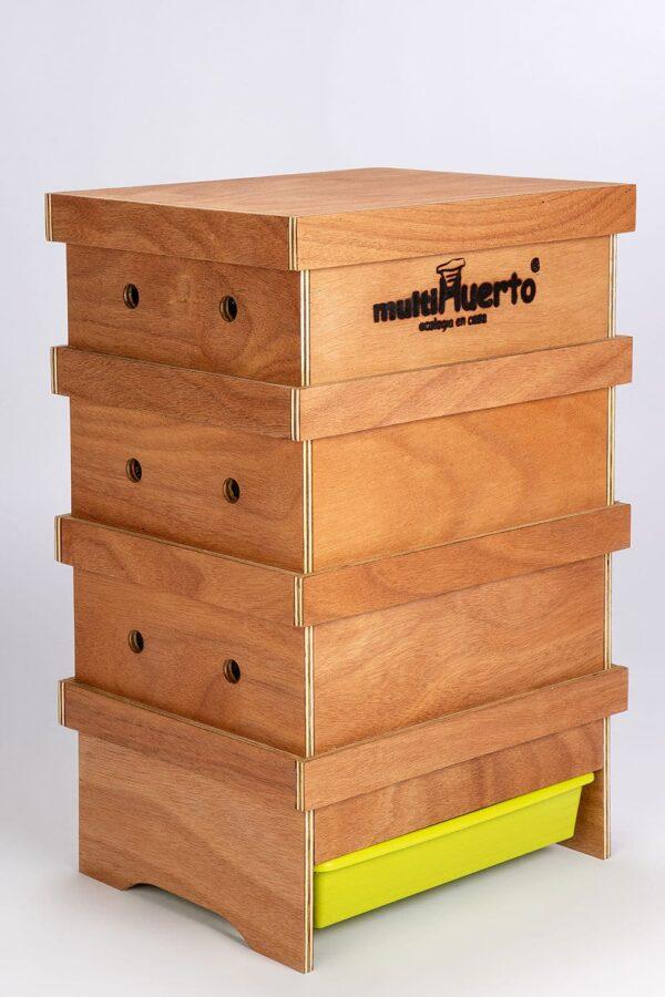 3 laags houten wormenbak