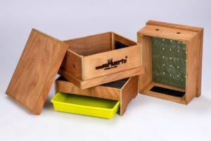 onderdelen 2 laags houten wormentoren