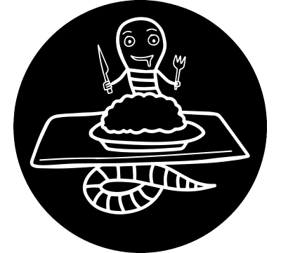 Illustratie gele worm